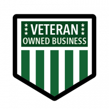 Family and Veteran Owned Business Logo